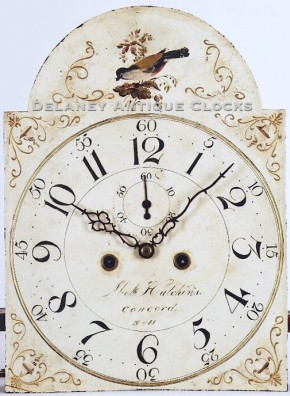 Abel Hutchins of Concord, New Hampshire. A tall clock painted dial.