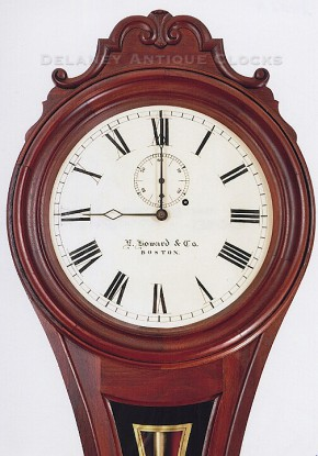E. Howard & Co. Model No. 6 wall regulator.  Figure 8.  Wall clock.