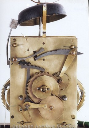 H. Scott of Lauder, Scotland. Tall clock clock movement.