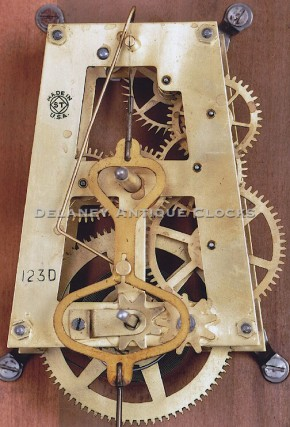 Seth Thomas school clock spring driven movement.  Delaney clock.