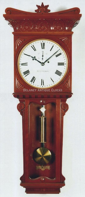 Seth Thomas Regulator No. 7 wall clock. Cherry case.