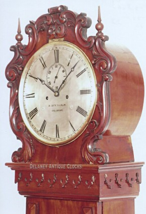 Daniel Buchanan of Glasgow, Scotland. Gentleman's regulator. Tall clock.