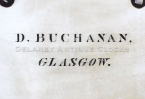 Daniel Buchanan / Glasgow.  Tall clock dial.