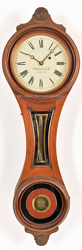 "E. Howard & Co. Model No. 10.  ""House & Counting-Room Clock."" Boston, MA. Figure 8 wall clock. The smallest size."