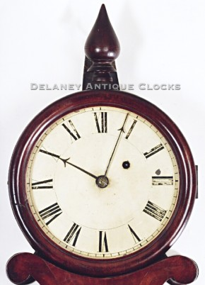 Abiel Chandler Concord, New Hampshire wall clock.  Lyre clock. Delaney Antique Clocks.