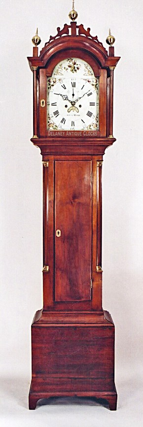 David Wood of Newburyport, Massachusetts. Tall case clock. II-163
