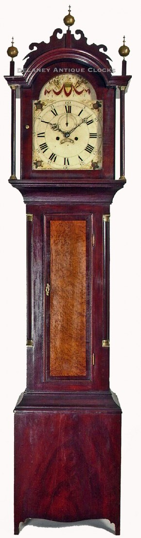 Jacob Jones of Pittsfield, New Hampshire. A NH tall clock. NN-105.