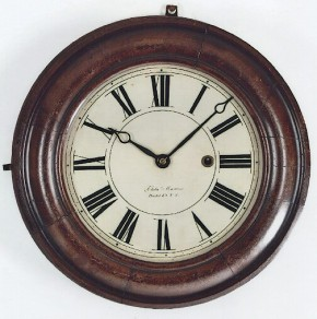 Elisha Manross of Bristol, Connecticut.  An Early CT Gallery Clock.