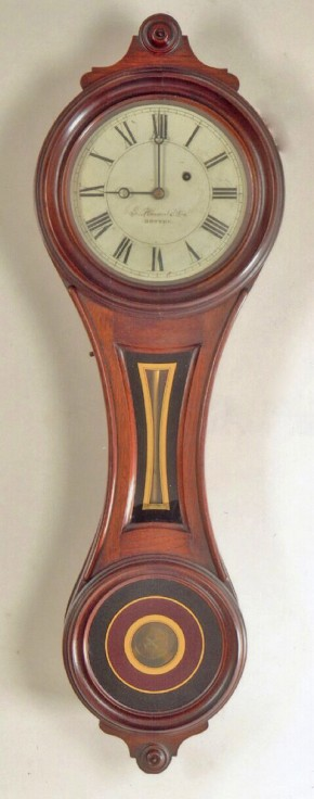 "E. Howard & Co., of Boston, MA. Model No. 10. Figure Eight. ""House and Counting-Room Clock"". Smallest size. -SOLD-"