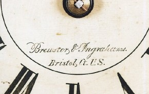 Brewster & Ingrahams of Bristol, CT. Steeple Clock.  Dial.