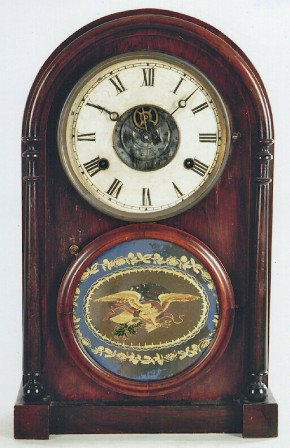 "N. L. Brewster case with Joseph Ives Patent ""Tin Plate"" movement."