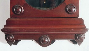A mahogany case detail wall regulator wall clock. A. Witte of Sufferin, New York.