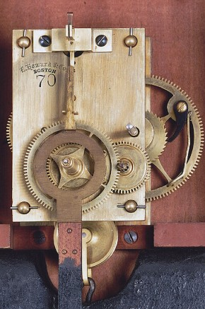 E. Howard & Co. Model No. 70 weight driven movement.