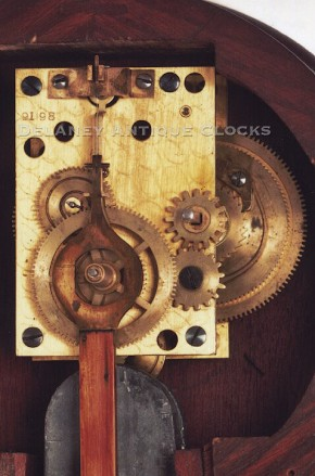 Waltham banjo clock movement.