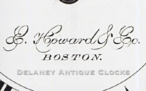 Dila signature. E. Howard & Co. Boston.