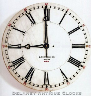 "E. Howard & Co., Boston, MA. Model No. 21. ""Marble Dial Clock."" 8-day spring."