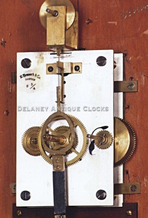 E. Howard Clock Co. Eight-day spring powered movement. Wall clock.