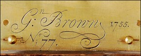 Gawen Brown of Boston, Massachusetts engraving