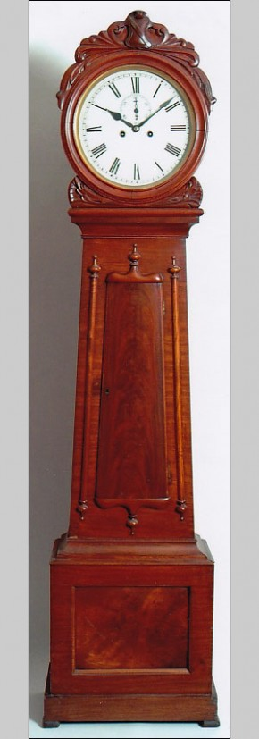 An unsigned tall case clock of Scottish origin, Glasgow.  -SOLD-