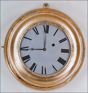 "William ""S"" Gilbert & Co. of Winchester, Connecticut. Gallery wall clock.  -SOLD-"
