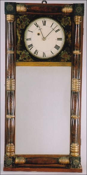 Benjamin Morrill of Boscawen, New Hampshire. A New Hampshire Mirror Clock.