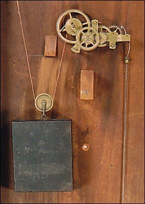Benjamin Morrill Boscawen, New Hampshire Mirror Clock movement