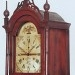Tall clock bonnet. Riley Whiting of Winchester, CT in red.
