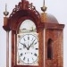 Elmer Stennes of Weymouth, Mass. A rocking ship tall case clock.  3/4 size. Hood