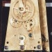 A mahogany cased pin-wheel wall regulator movement. A. Witte of Sufferin, New York.