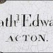 Nathaniel Edwards Jr., of Acton, Massachusetts signature