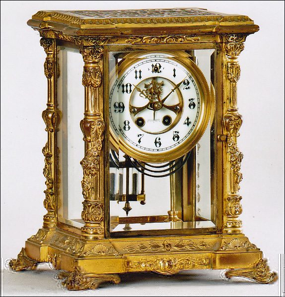 "The ""Tunis"" by the William Gilbert Clock Company of Winsted, CT.  Mantel clock.  -SOLD-"